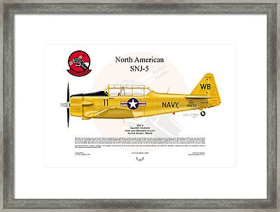 North American Snj-5 Framed Print by Arthur Eggers