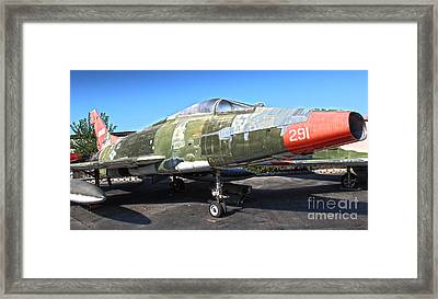 North American Super Sabre Qf-100d Framed Print by Gregory Dyer