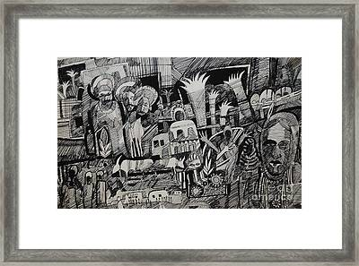 North And South Framed Print by Mohamed Fadul