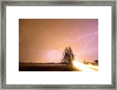 North Boulder County Colorado Lightning Strike Framed Print by James BO  Insogna