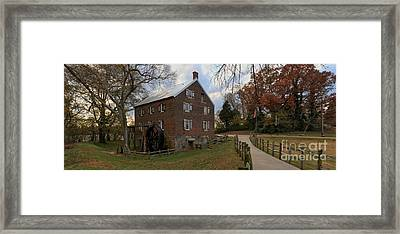 North Carolina 1823 Grist Mill Panorama Framed Print by Adam Jewell
