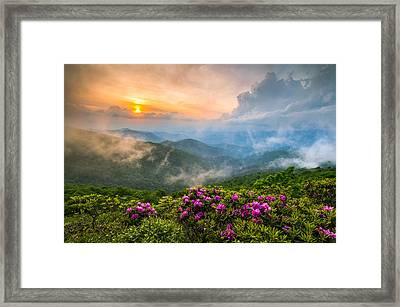 North Carolina Blue Ridge Parkway Spring Appalachian Mountains Nc Framed Print by Dave Allen