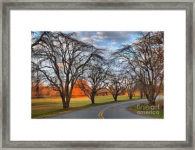North Carolina Sloan Park Sunset Framed Print by Adam Jewell