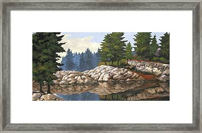 North Channel Reflections Framed Print by Michael Swanson