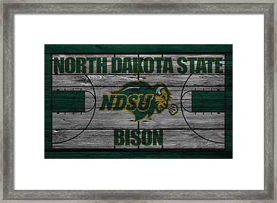 North Dakota State Bison Framed Print by Joe Hamilton