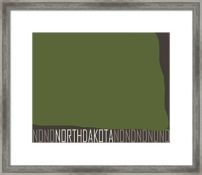 North Dakota State Modern Framed Print by Flo Karp