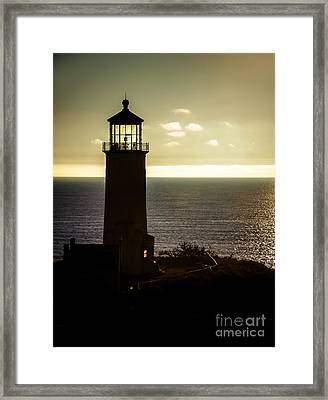 North Head Lighthouse After Sunset  Framed Print by Robert Bales