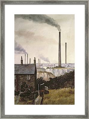North Kent Landscape  Nr Northfleet Gravesend Framed Print by Vic Trevett