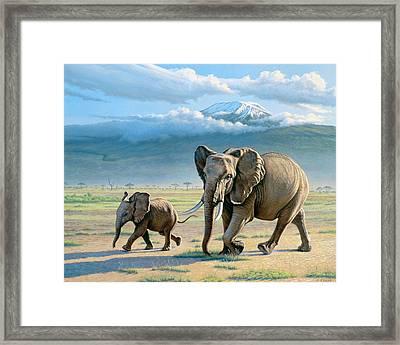 North Of Kilimanjaro  Framed Print by Paul Krapf