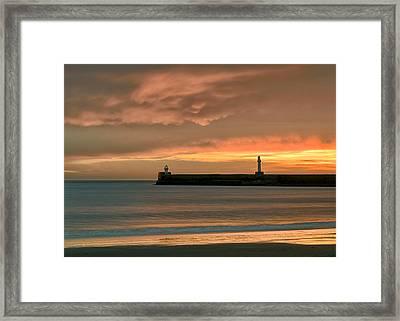 North Pier Dawn Framed Print by Dave Bowman