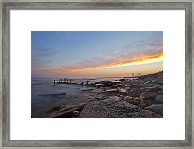 North Point Sunset Framed Print by CJ Schmit