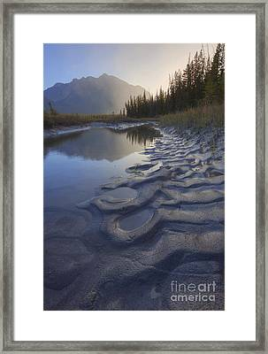 North Saskatchewan River Backwater Framed Print by Dan Jurak