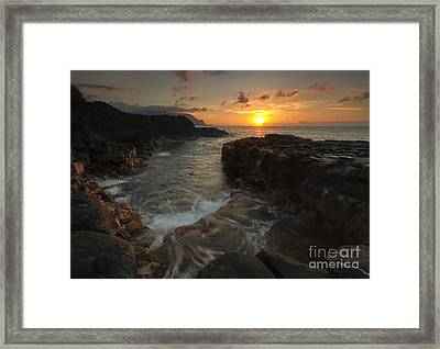 North Shore Paradise Framed Print by Mike  Dawson