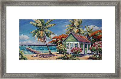 North Side Home And Dock Framed Print by John Clark