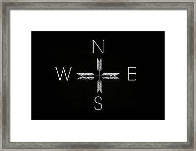 North South East West Framed Print by Chastity Hoff