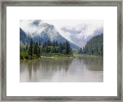 North Thompson River Framed Print by Janet Ashworth