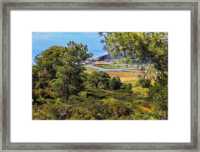 North Torrey Pines Del Mar Framed Print by Russ Harris