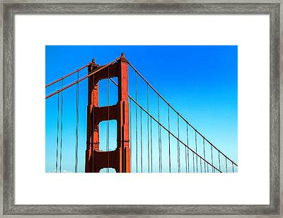 North Tower Golden Gate Framed Print by Garry Gay