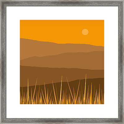 North Framed Print by Val Arie