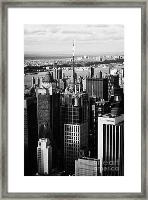 North West Manhattan Verizon Building And 1 Times Square New York City Skyline Framed Print by Joe Fox