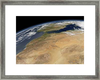 North-western Africa, Satellite Image Framed Print by Science Photo Library