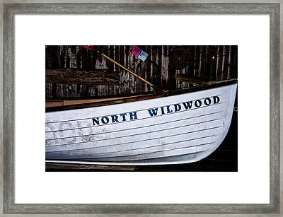 North Wildwood Lifeboat Framed Print by Bill Cannon