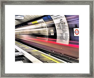 Northbound Underground Framed Print by Rona Black