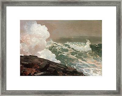 Northeaster Framed Print by Winslow Homer