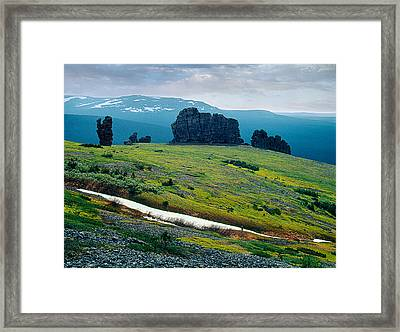 Northen Summer Landscape Framed Print by Vladimir Kholostykh