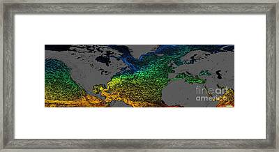 Northern Hemisphere Surface Currents Framed Print by Nasa