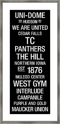 Northern Iowa College Town Wall Art Framed Print by Replay Photos