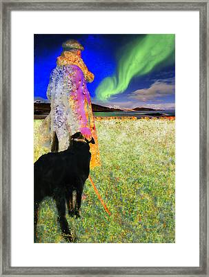 Northern Lights Framed Print by Chuck Staley