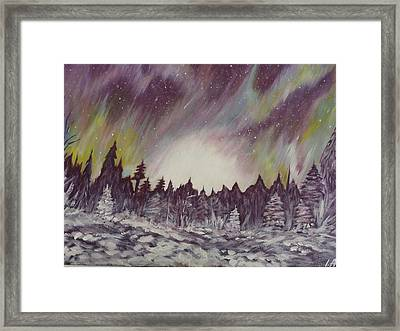 Northern Lights  Framed Print by Irina Astley