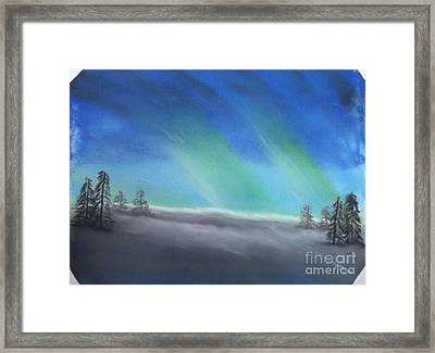 Northern Lights Framed Print by Tracey Williams