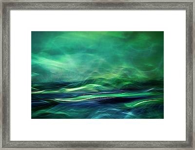 Northern Lights Framed Print by Willy Marthinussen