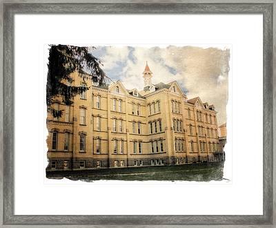 Northern Michigan Asylum Framed Print by Michelle Calkins