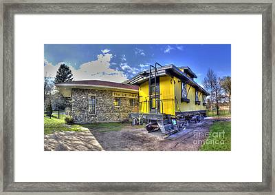 Northport Train Depot Framed Print by Twenty Two North Photography