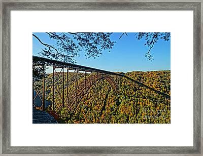 Northwest View Of Gorge Bridge Framed Print by Timothy Connard