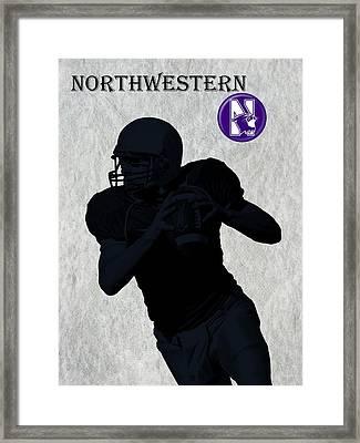 Northwestern Football Framed Print by David Dehner