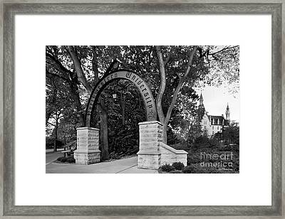 Northwestern University The Arch Framed Print by University Icons