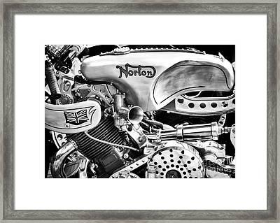 Norton Custom Cafe Racer Monochrome Framed Print by Tim Gainey