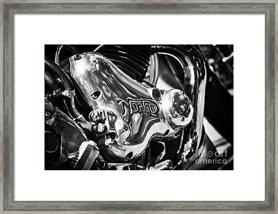 Norton Engine Casing Framed Print by Tim Gainey