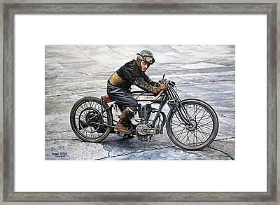 Norton Rider Framed Print by Ruben Duran