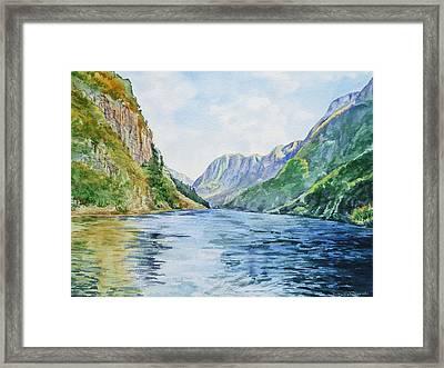Norway Fjord Framed Print by Irina Sztukowski