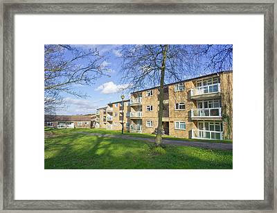 Norwich Apartments Framed Print by Tom Gowanlock