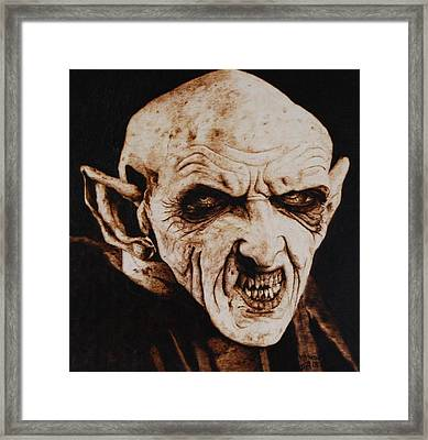 Nosferatu Framed Print by Invictus IA