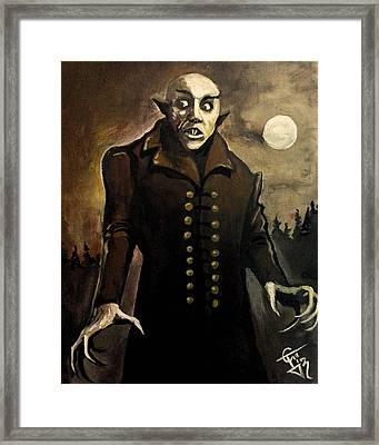 Nosferatu Framed Print by Tom Carlton