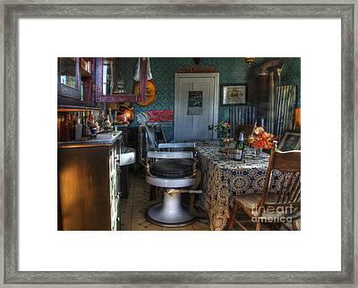 Nostalgia Barber Shop Framed Print by Bob Christopher