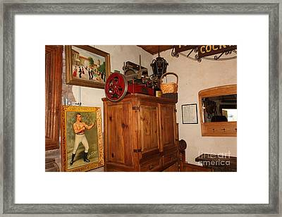Nostalgic Corner In The Cellar Room At The Swiss Hotel In Sonoma California 5d24442 Framed Print by Wingsdomain Art and Photography