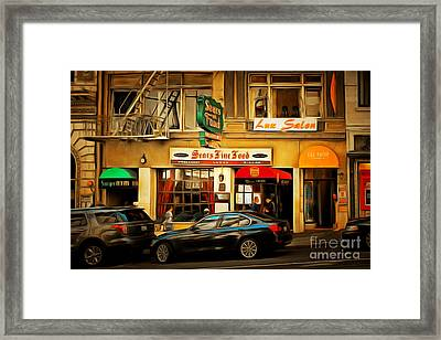 Nostalgic Sears Fine Food Restaurant San Francisco Dsc885brun Framed Print by Wingsdomain Art and Photography